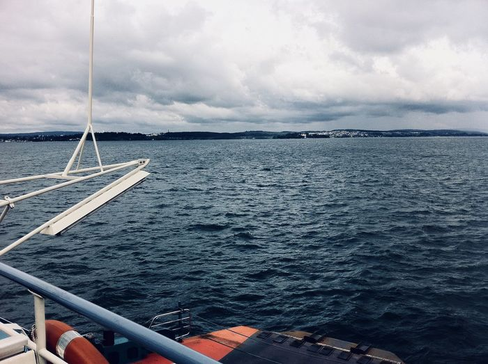 On the Lake Lake See Water Sky Cloud - Sky Sea Nautical Vessel Transportation Mode Of Transportation EyeEmNewHere