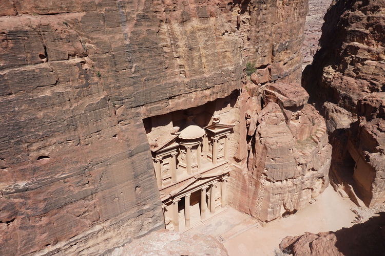 Petra From Above Ancient Petra Petra From Above Ancient Civilization Architecture Day Nabatean Travel Destinations