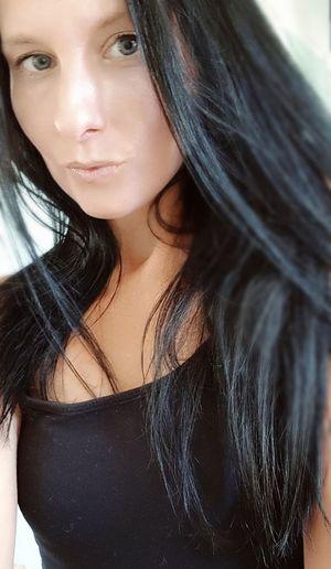 BlueEyes Me Self Portrait Longdarkhair Portrait Women Females Headshot