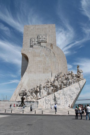 Capital Cities  Cloud - Sky Day Famous Place History In Front Of International Landmark Large Group Of People Leisure Activity Lifestyles Memories Men Monument Mountain Person Portuguese Culture Sky Stone Material The Past Tourism Tourist Travel Travel Destinations Vacations Visiting
