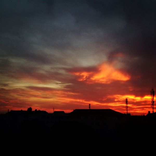 When the sun goes down. Last summer. Summer Views Home Sweet Home Sunset Silhouettes Colors Of Nature Skyisonfire