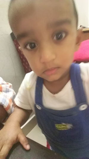 My son 1 year 6momths selfie by himself First Eyeem Photo