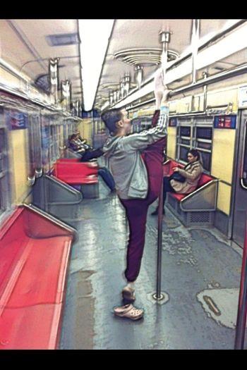novo jeito de andar de trem Subway