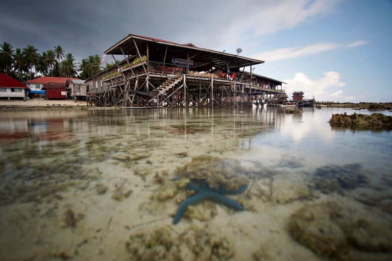 Architecture ASIA Beach Photography Blue Borneo Diving Horizon Over Water Sand Water