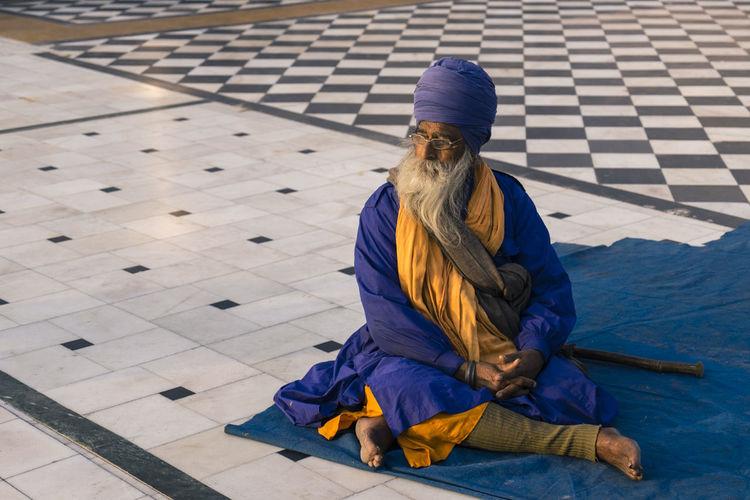 Devoutee prays at the Gurudwara Bangla Sahib Sikh temple in Delhi, India. Blue Day Delhi Delhi, India Gurudwara Bangla Sahib Ji India Portrait Prayertime Punjab Punjabiculture Sikh Sikh Temple Sikhbeard Temple Templephotography
