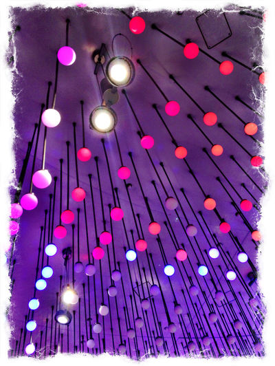 Arrangement Ceiling Decoration Lamps Large Group Of Objects Multi Colored No People Violet