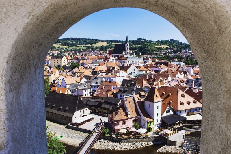 Architecture Built Structure Building Exterior Crowded Residential Building Roof City Day Cityscape Sky Housing Settlement Outdoors Český Krumlov Frame Town TOWNSCAPE Exploring Canon Canonphotography Beautiful EyeEmNewHere