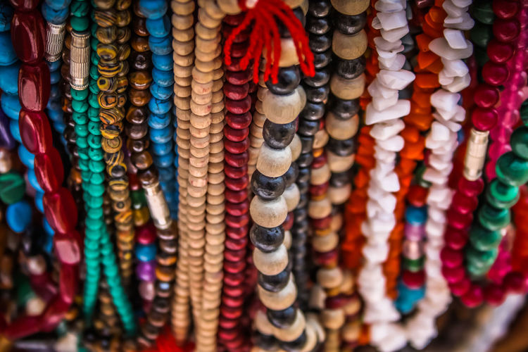 Close-up of jewelry for sale