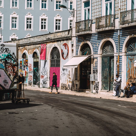 Streets of Lisbon City Group Of People Outdoors People Real People Street Streetart Streetphotography