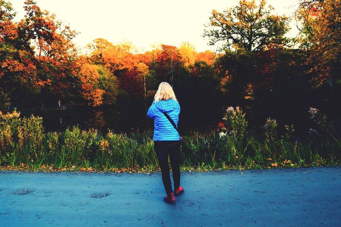 Spectacular View Spectacular Nature Catching The Moment Autumn Autumn Colors Fall Beauty Fall_collection Blue Jacket Woman Nature_collection