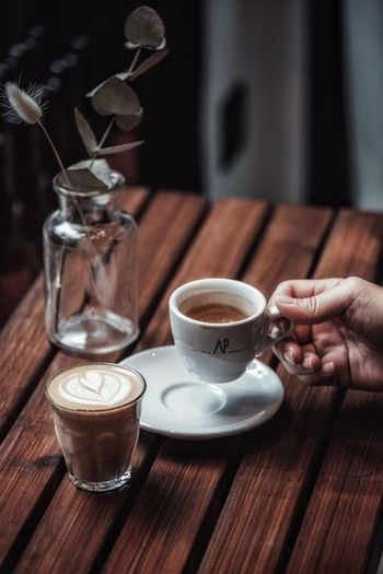Drink Food And Drink Refreshment Coffee - Drink Coffee Cup Mug Coffee Cup Table Human Hand Hand Freshness Indoors  Spoon
