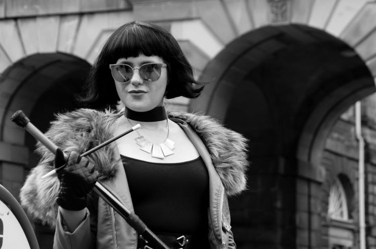 Arts And Culture City Edinburgh Edinburgh Fringe Femme Fatale Portraits Scotland Woman Arches Beautiful Woman Black And White Edinburgh Festival Eyeglasses  Glamourous Looking At Camera Monochrome People Portrait Real People Sunglasses Theatre Young Adult Young Women
