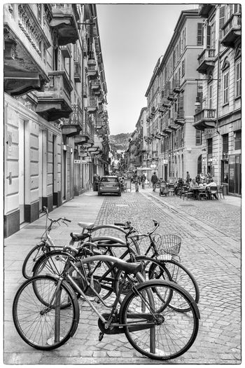 Art, Beautiful Bikes, Shadow Black & White Italy❤️ Rhythmic Street Photography Turin Italy