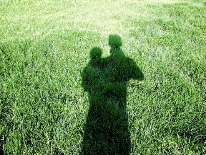 Grass Green Color Growth Field Real People One Person Outdoors Day Nature Shadow Human Shadow My Shadow
