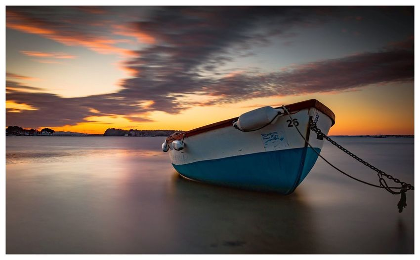 Boat Sea Nature Cloud - Sky Scenics Beauty In Nature Tranquility Outdoors Horizon Over Water