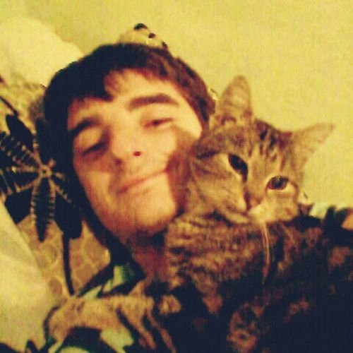 Dobre rano/ Good morning😉 Relaxing Today :) Photooftheday Selfie ✌ With My Cat