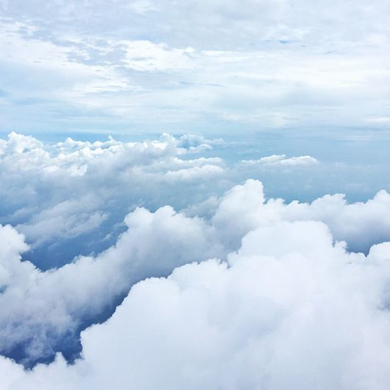 Sky. Sky And Clouds Blue Blue Sky Pastel Power On The Plane Cloud Sky Pastel Colors