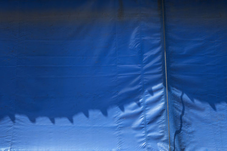 Canopy Shade Abstract Backgrounds Blue Close-up Crumpled Day Full Frame Light And Shadow No People Outdoors Pattern Sheet Textured  Wrinkled