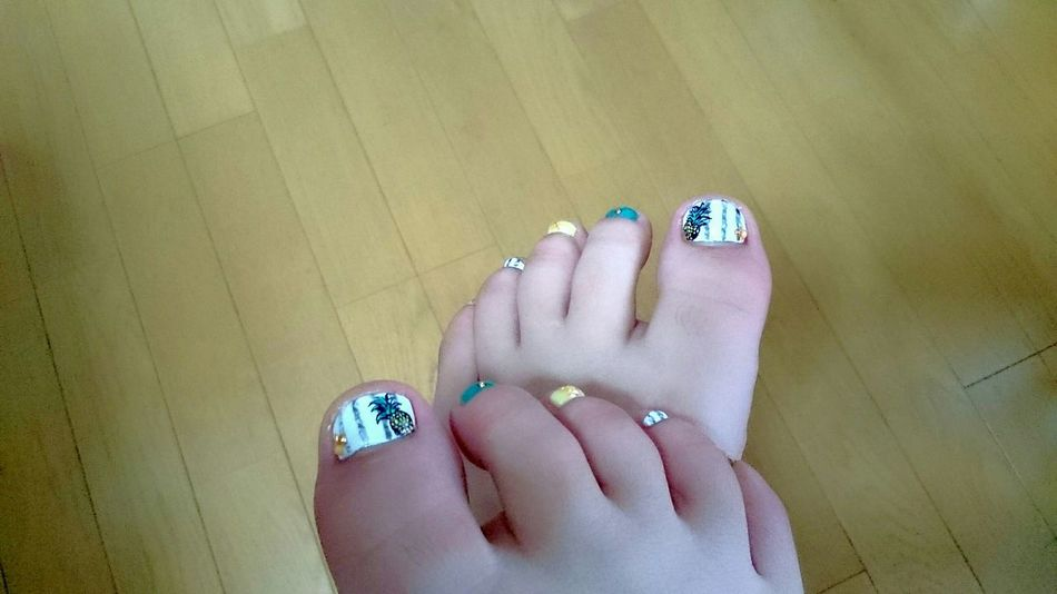 Nail Painting Art Foot Footnail Pineapple