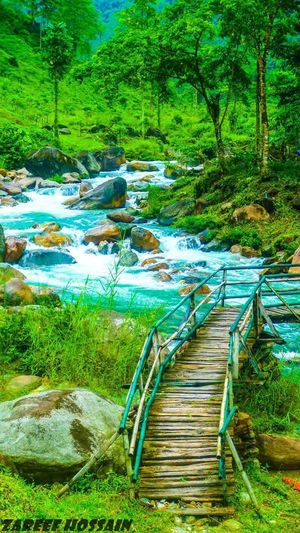 Samsing India Waterfall Waterfalls Water Boulder Boulders River Blue Green Woodenbridge Bridge Jungle Green Color Green Rainy RainyDay Rain Gloomy Gloomyweather Gloomyday  Overcast