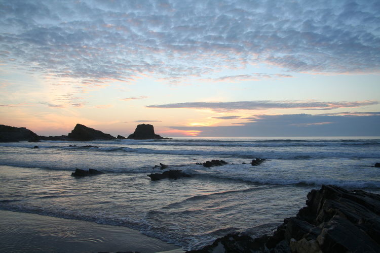 Beach Beauty In Nature Coastline Geology Horizon Over Water Majestic Ocean Outdoors Physical Geography Remote Rock Scenics Sea Seascape Shore Sky Tranquil Scene Tranquility Water Zambujeiradomar Zambujeira Do Mar Zambujeira Alentejo Alentejo,Portugal Costa Vicentina