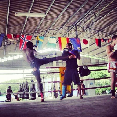 Damn I miss Thailand!!! Can't wait to be back in January MuayThai Kick Landofsmiles Boxing muaythaistayfly sinbi