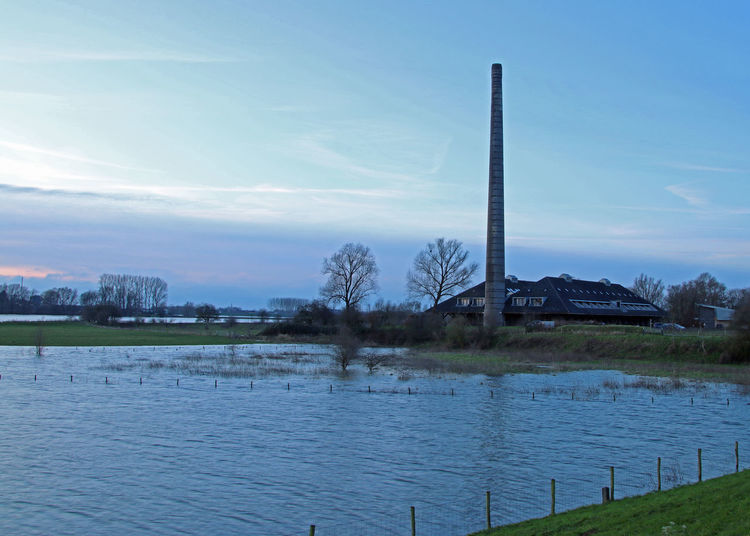 Hoog Water Beauty Day Lake No Animals No People Rijn Standing Water
