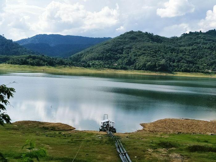 thailand Tree Water Lake Reflection Mountain Sky Landscape Cloud - Sky Dam