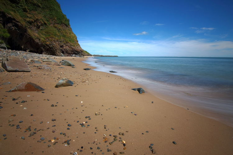 Beach Scene at Arklow, Co. Wicklow, Ireland Arklow Beach Beauty In Nature Calm Coastline Day Horizon Over Water Idyllic Ireland🍀 Nature No People Non-urban Scene Outdoors Remote Sand Scenics Sea Shore Sky Tourism Tranquil Scene Tranquility Vacations Water Wicklow