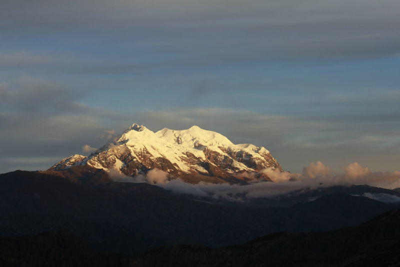 Beauty In Nature Cloud Cloud - Sky Cloudy Idyllic Illimani Landscape Majestic Mountain Mountain Range Nature No People Non-urban Scene Outdoors Physical Geography Remote Scenics Season  Sky Snowcapped Mountain Tranquil Scene Tranquility Weather First Eyeem Photo Showcase July
