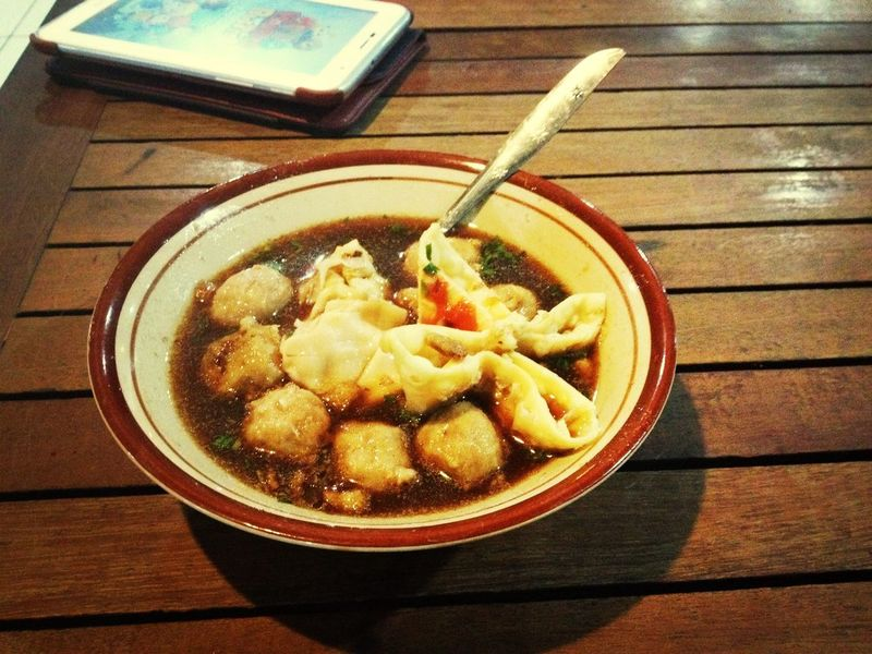 "Meat Balls feel hungry and i choose this, in indonesia we call this ""bakso"" In My Mouf"