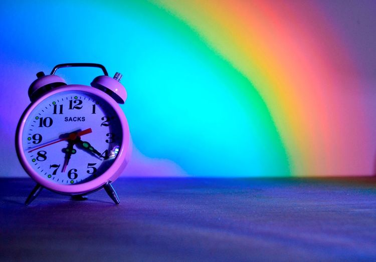 ] Clock Number Time Colourful Pink Color Reflection_collection Times Timewatch Clocks Numbers The Magic Mission