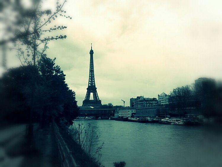 Paris ... some years ago ... Paris, France  Eiffel Tower Sur Les Quais Peniche