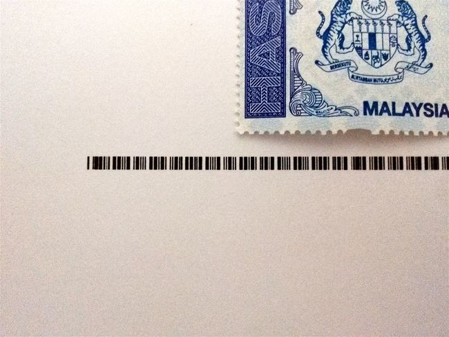 Stamp Blue And White White Background Paper Bar Code Logo Logographic Malaysia The Week Of Eyeem Showcase July