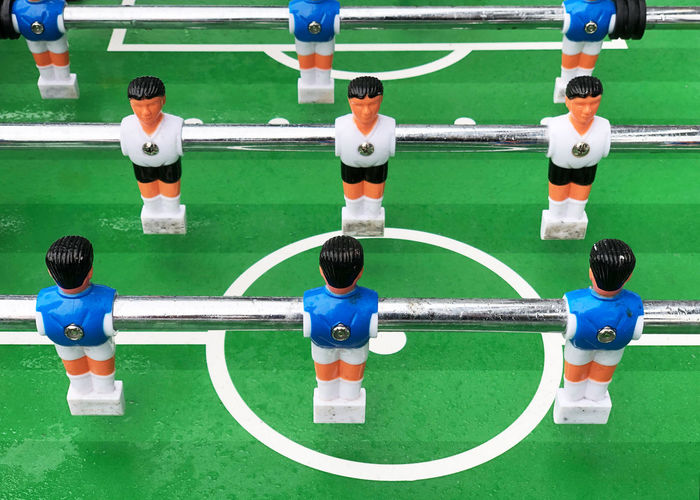Sport Team Sport Soccer Grass Competition Playing Leisure Activity Table Football Table Soccer Game Table Football Soccer Field Wet Krökeln Nobody