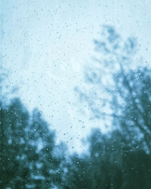 Beginning of the autumn Window Wet Drop Glass - Material Rain Backgrounds Weather Close-up Sky Day No People Through The Window Cold Dark