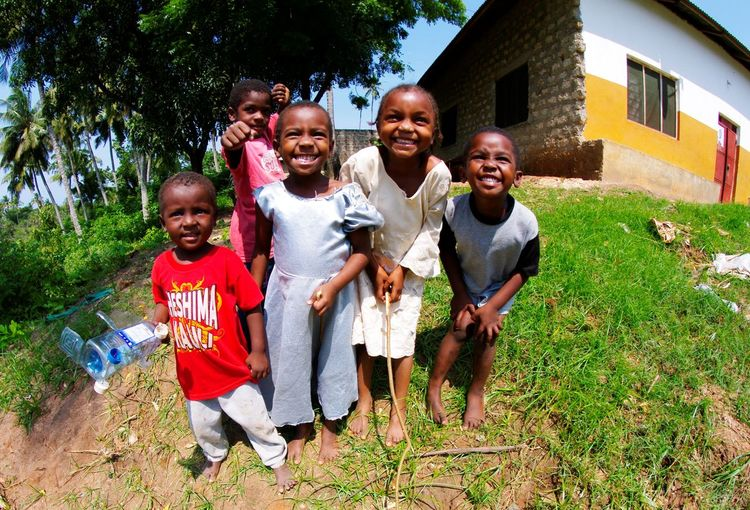 Smile kids! Fisheye Lens Gazi Bay Kids Smile Village