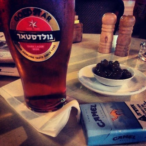 Tlv Dizengoff Goldstar Beer nice time relaxing here