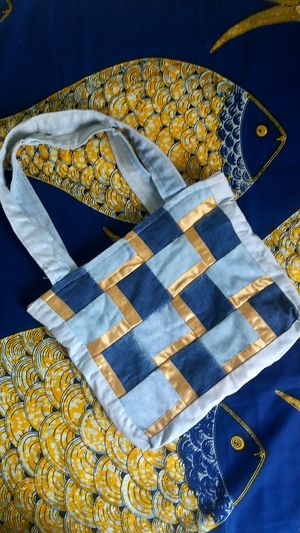 Crafts EyeEm Selects Fashion Blue Tablecloth Yellow No People Indoors  Day Close-up