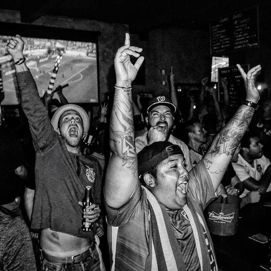 American Outlaws supporters cheer after the US scores against Paraguay in Copa America Centenario. Check This Out streetphotography soccer CopaAmérica Futbol