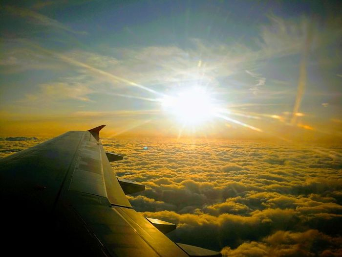 airplane Sunset Commercial Airplane Airplane Flying Aerospace Industry Sunset City Plane Air Vehicle Aircraft Wing Journey Jet Engine Airplane Wing Aeroplane Airways Flight