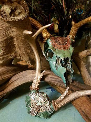 Big Buck Close-up Skull Art Deer Skull Deer Horns Deer Sighting Decorative Art Decor