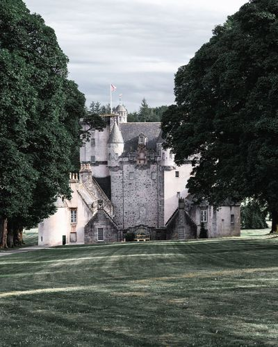 Castle Fraser Scotland Aberdeenshire National Trust Scotland National Trust Visit Scotland Castle Trail Scottish Tourism Scottish Scenery Kemnay Castle Fraser Scottish Castle Tree City Sky Architecture Building Exterior Built Structure Grass Green Color Castle Medieval The Past Historic Historic Building Ancient History Aged