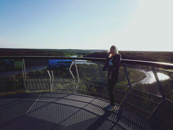 Sightseeing Merkinė Tower River View Sister