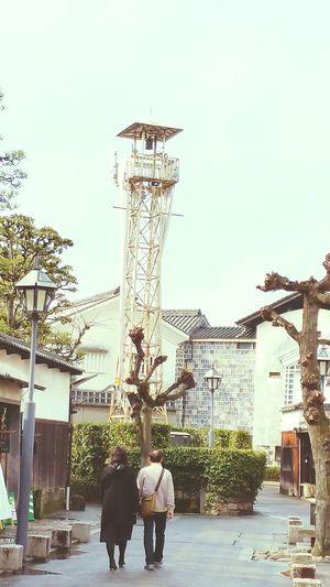 山口県下松での仕事を終え、帰る途中。倉敷の美観地区に立ち寄りました。古い町並みを保存していく努力、素晴らしいです。 倉敷 美観地区 Hello World 火の見櫓 古き良き物