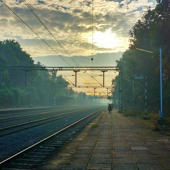 Miles to go before I sleep.. Travelgasm Early Morning Solitary Moments Dontstop RailwayPlatform Cloudscape Serene Away From The City Away From The Hustle Eyemphotography