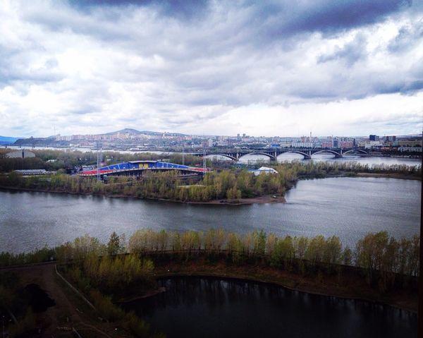 Krasnoyarsk Enisey Siberia River City Krsk