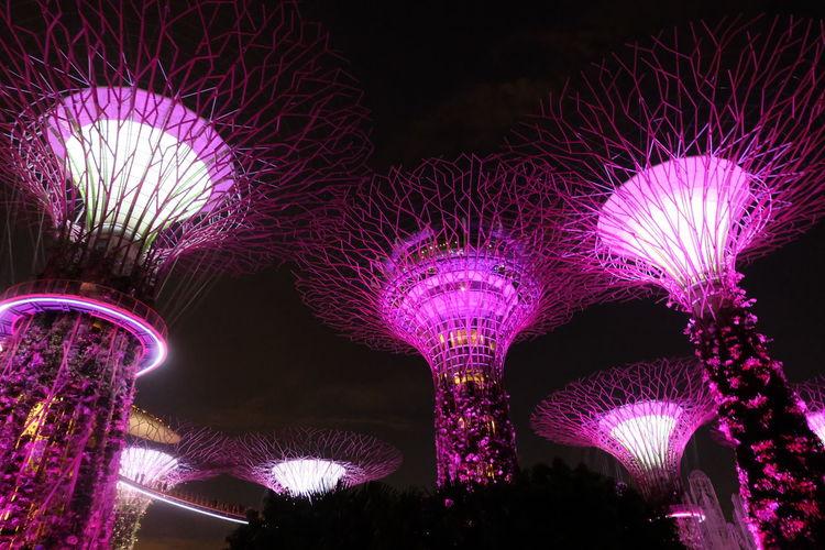 Futuristic No People Illuminated Cyberspace Relaxing Playfullights Night Colors Futuristic Nightscape Nightshot Night View Night Sky Night Life Nightlife Nightphotography Singapore Ferris Wheel