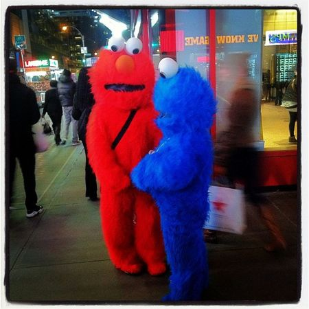 Meeting of the minds #timessquare #elmo #panhandling Elmo TimesSquare Panhandling