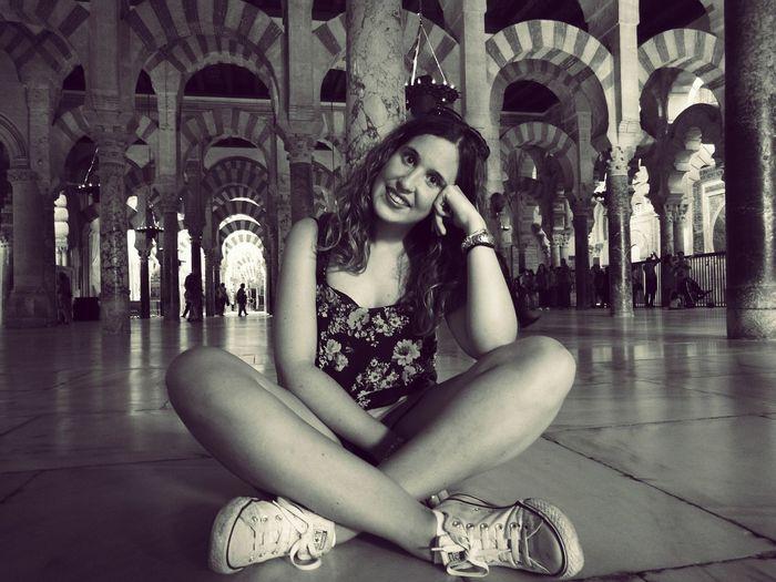 Mi hermana en la mezquita de Córdoba, no se quien es más bonita de las dos ;) First Eyeem Photo